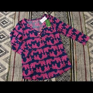 NWT Lilly Pulitzer Palmetto Top Pink Elephant S